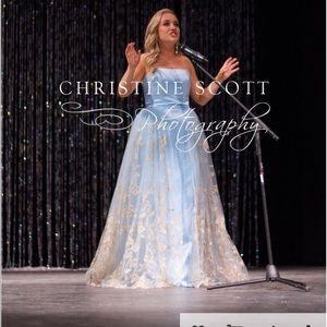 SHERRI HILL Light Blue Pageant + Prom Dress